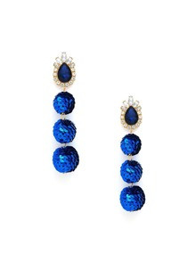 Sequin Overlay Ball Shaped Drop Earrings