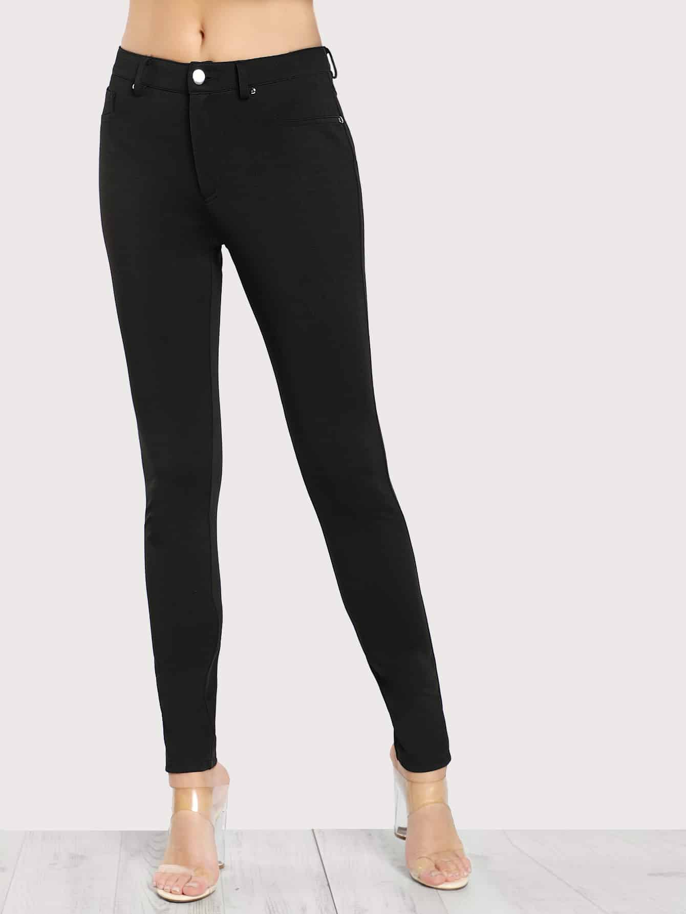Image of 5 Pocket Solid Skinny Pants