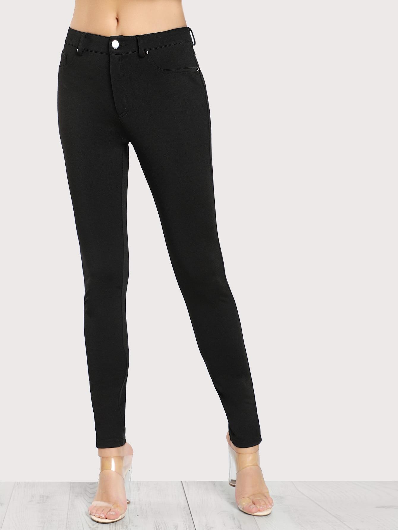 5 Pocket Solid Skinny Pants