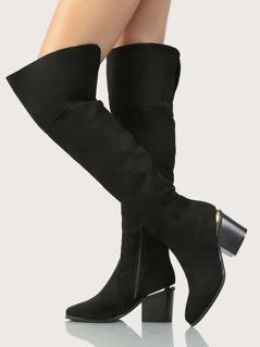 OTK Faux Suede Boots BLACK