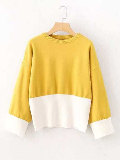 Two Tone Jumper Sweater