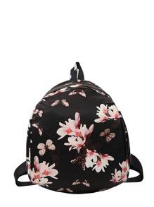 Butterfly & Flower Print Backpack