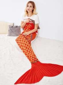 Manta sirena con patrón de cola de pez de dos colores
