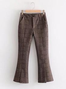 Plaid Flared Pants