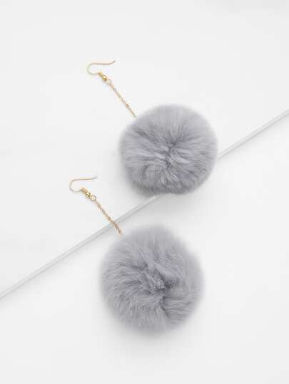 Pom Pom Drop Earrings