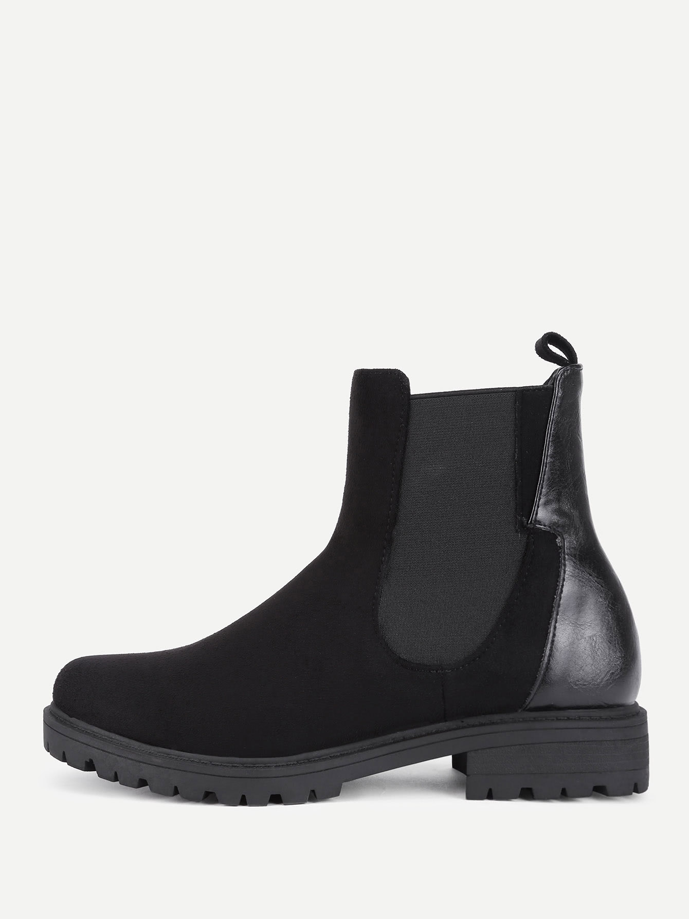 Round Toe Chelsea Boots