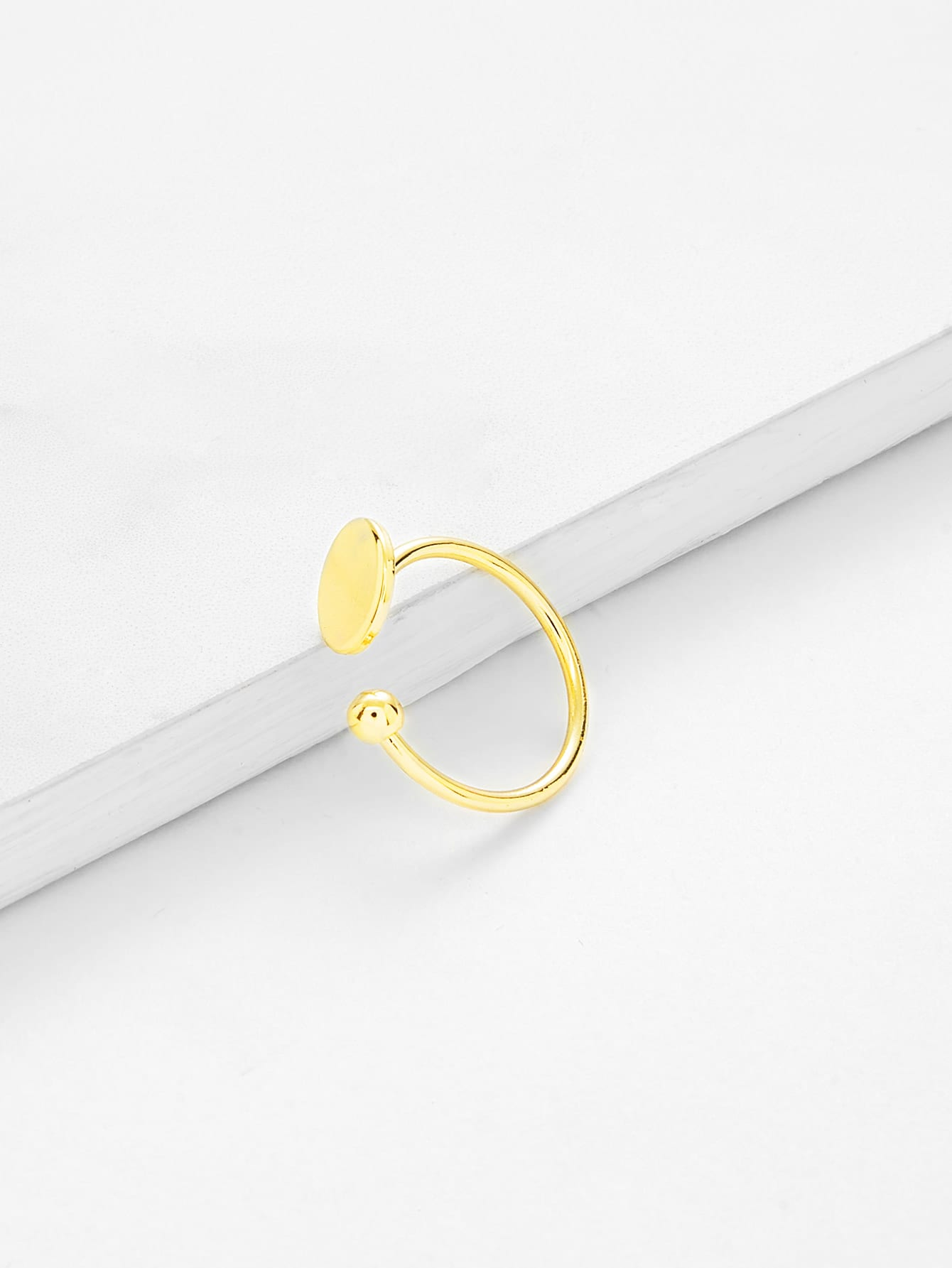 Round Design Open Ring open heart design ring