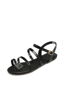 Toe Ring Strappy Sandals