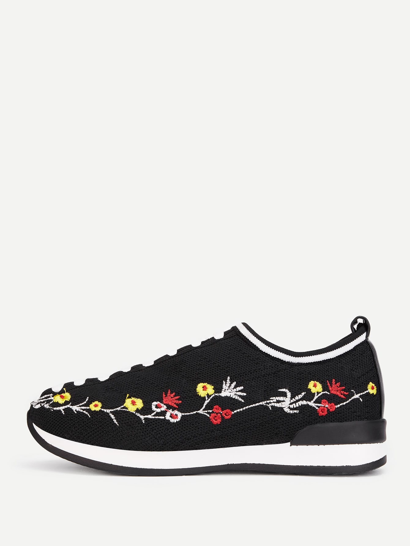 Image of Calico Embroidery Knit Sneaker
