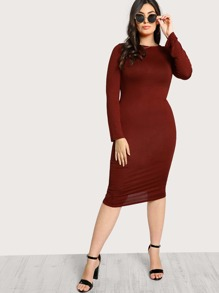Long Sleeve Basic Dress