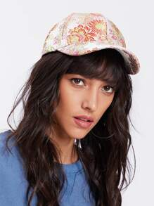 Embroidered Flower Baseball Cap