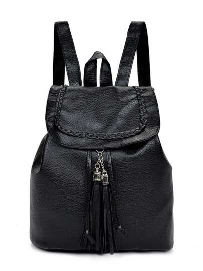 Tassel Detail PU Backpack