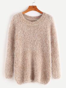 Fuzzy Chunky Knit Sweater