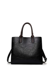 Square PU Tote Bag