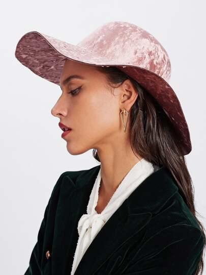 Plain Wide Brim Hat