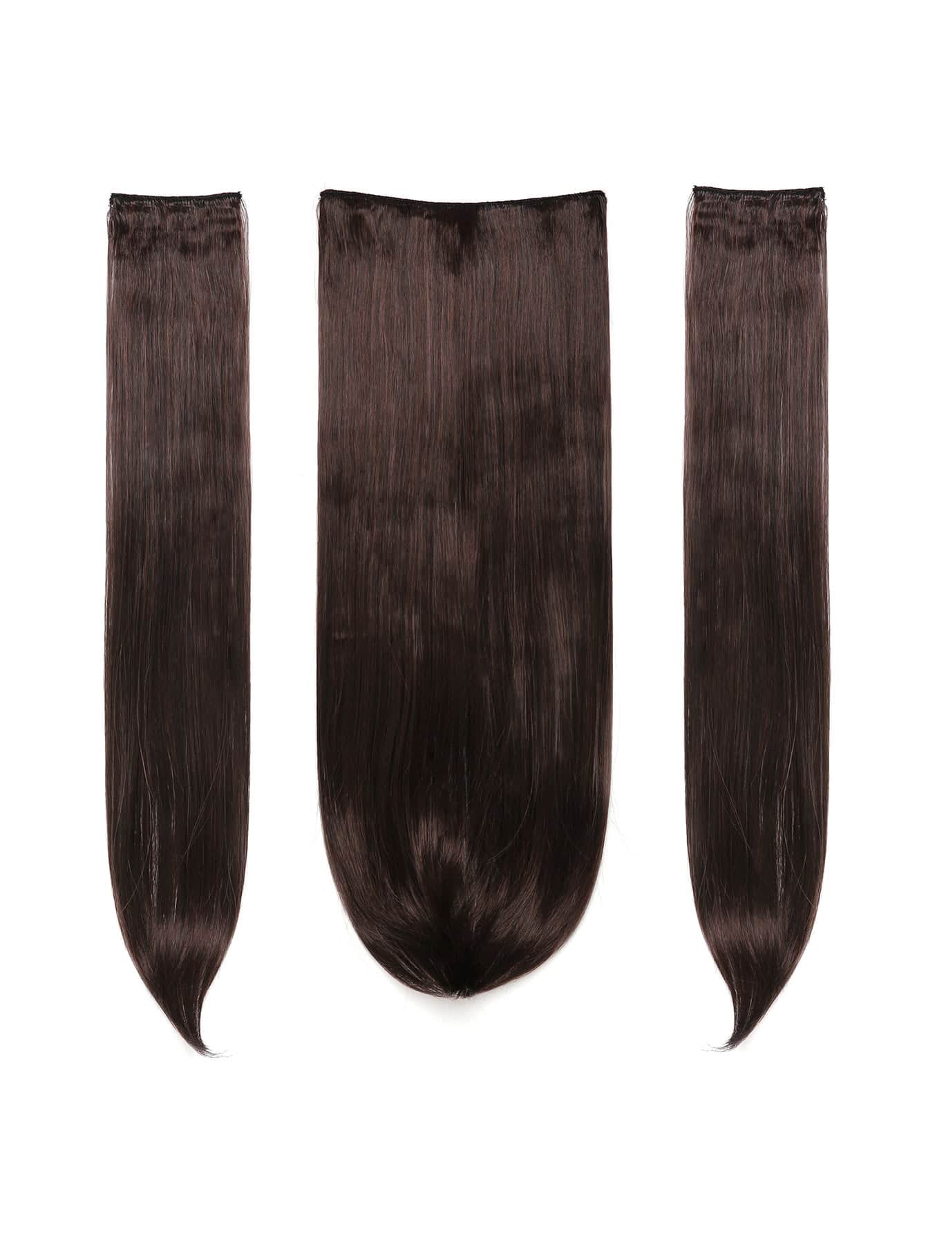 Black Cherry Clip In Straight Hair Extension 3pcs black cherry clip in soft wave hair extension 3pcs