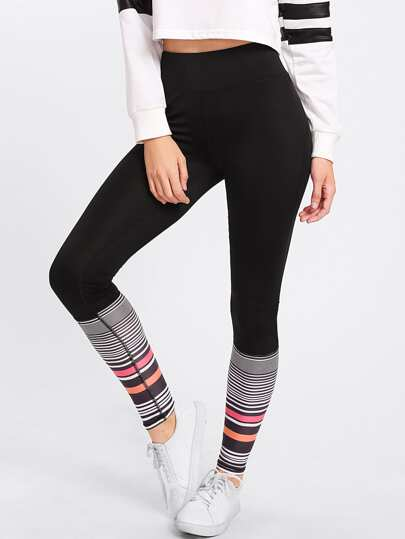 Multi-Stripe Panel Leggings