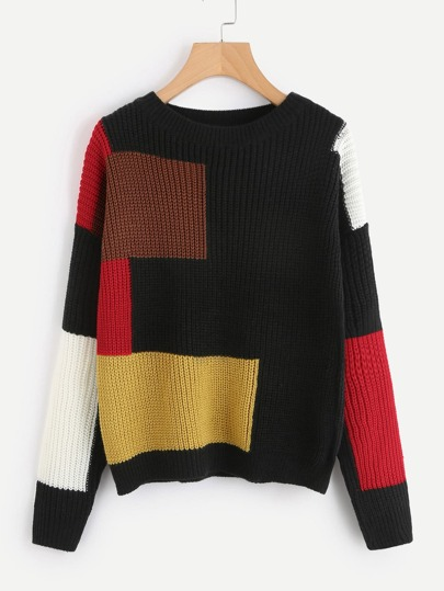 Cut And Sew Knit Sweater