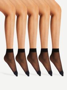 Sheer Mesh Socks 5pairs