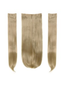 Light Golden Blonde Clip In Straight Hair Extension 3pcs