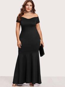 Off Shoulder Fishtail Dress
