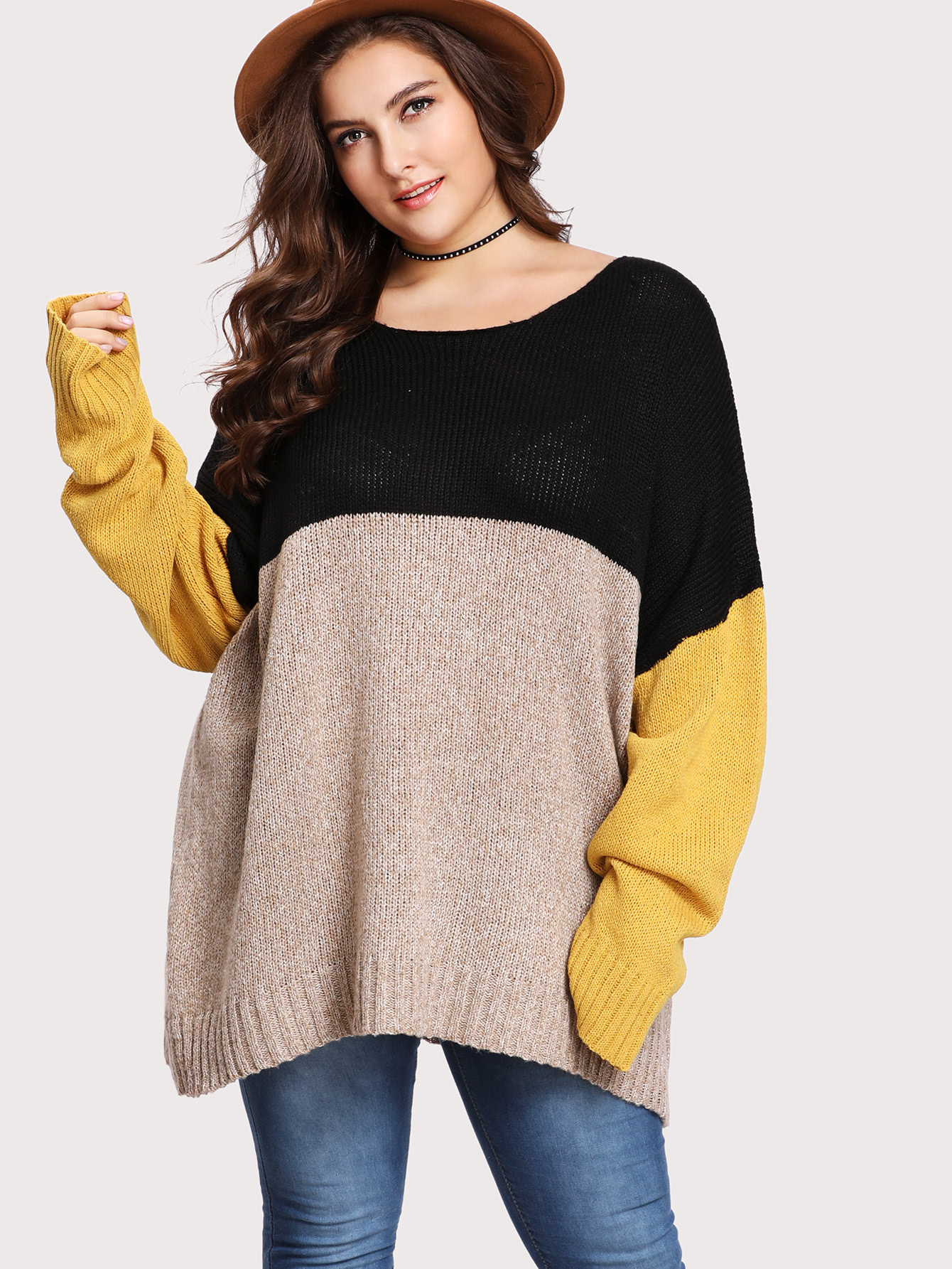 Cut And Sew Oversized Jumper