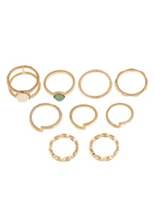 Double Layered Ring Pack 9pcs