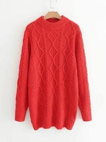 Robe tricotée en tricot à câble
