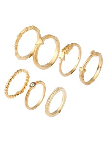 Plaited Ring Set 7pcs