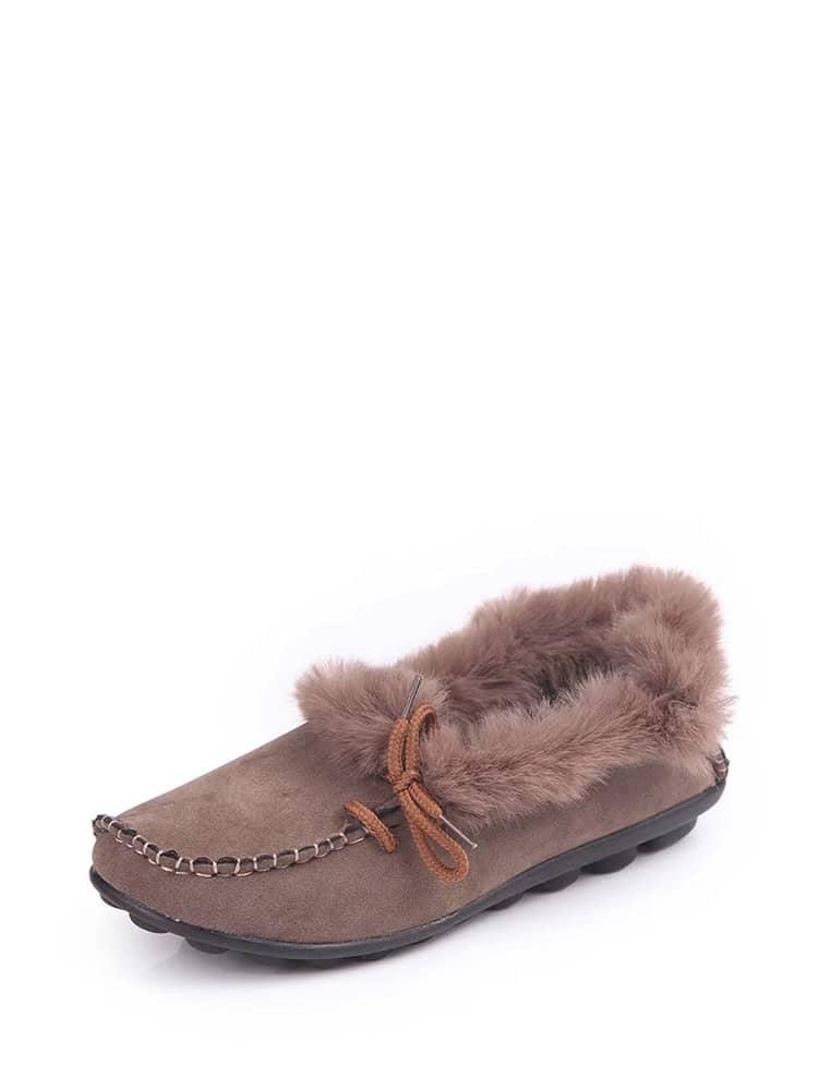 Faux Fur Trim Driving Shoes camo insert faux fur trim denim jacket