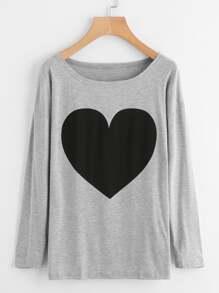 Camiseta con corazón