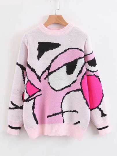 Cartoon Print Jumper Sweater