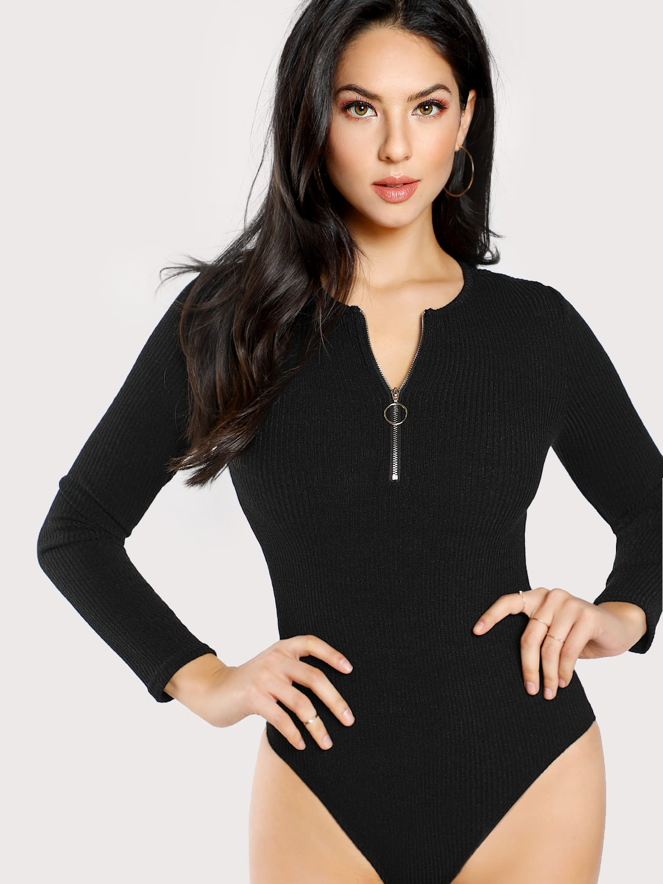 цены O-Ring Zip Front Bodysuit
