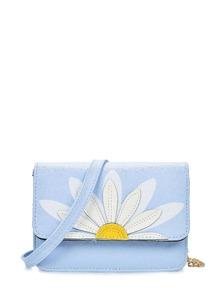 Daisy Patch PU Flap Bag