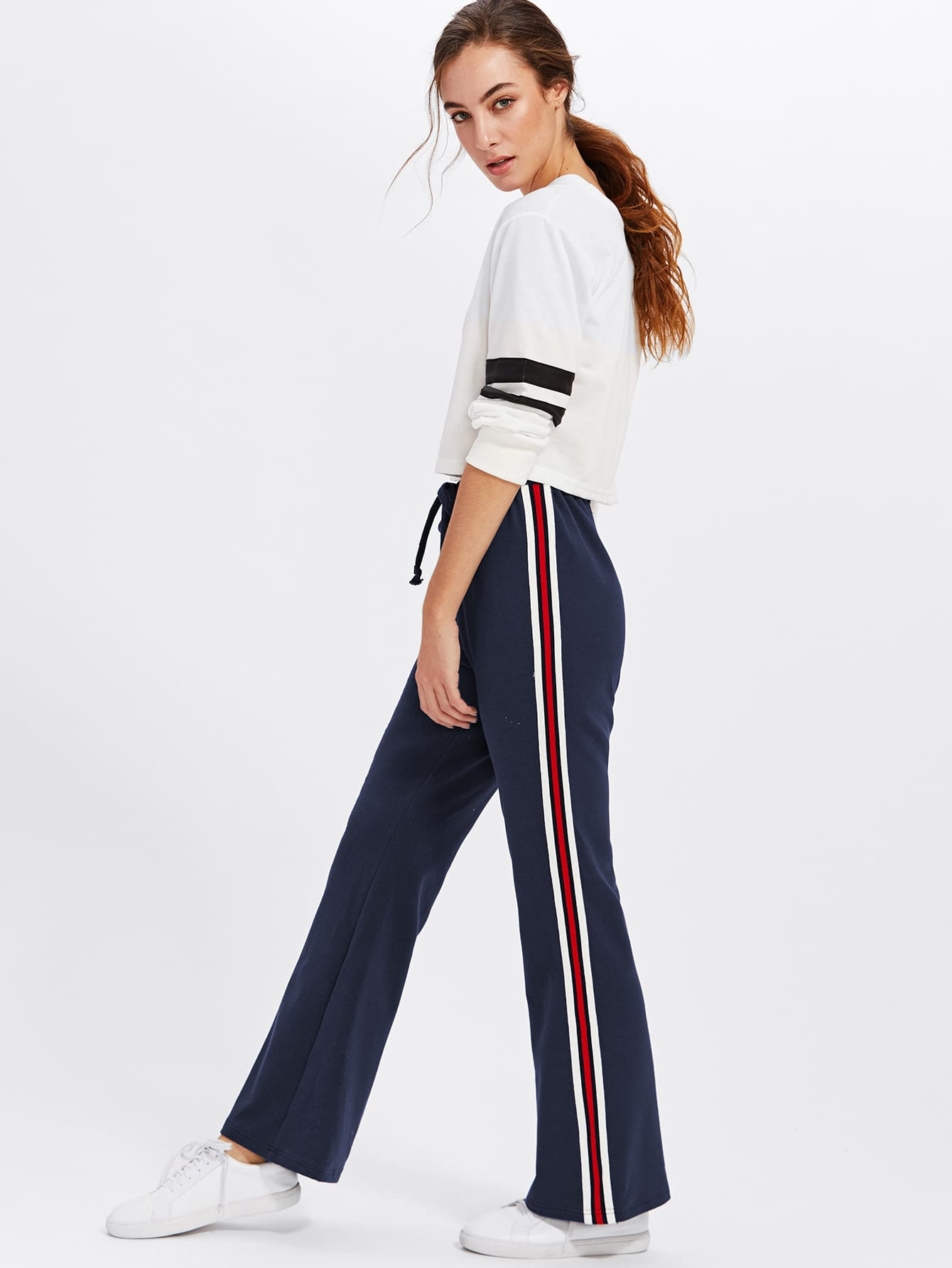 Striped Tape Side Sweatpants lisa corti сандалии