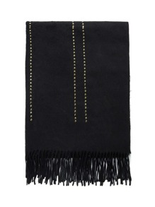 Fringe Trim Studd Decorated Scarf