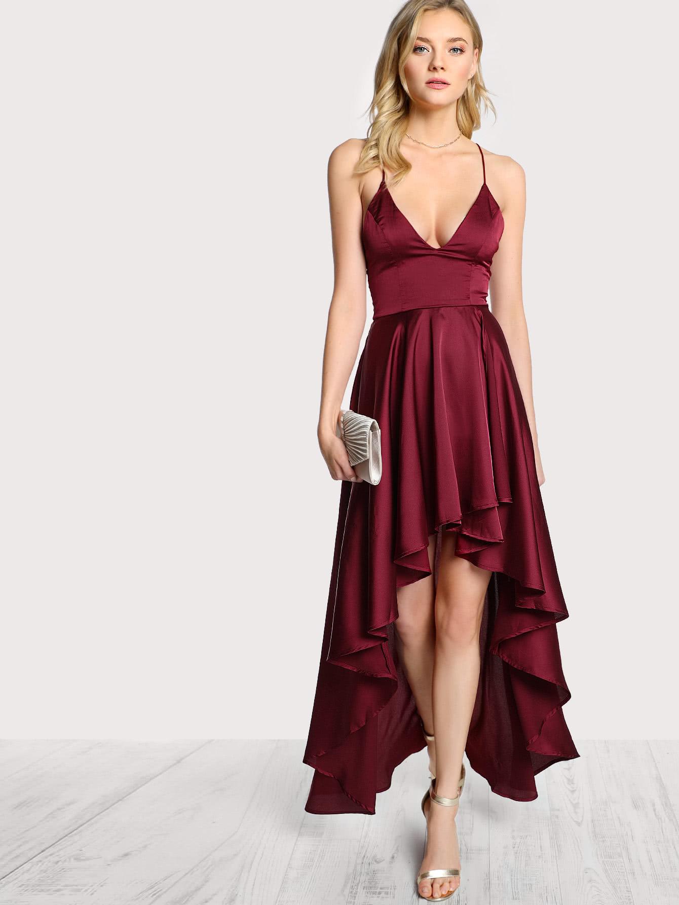 Купить Модное асимметричное платье на бретельках с открытой спиной, Alanna Whittaker, SheIn