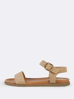 One Band Ankle Strap Sandals NATURAL