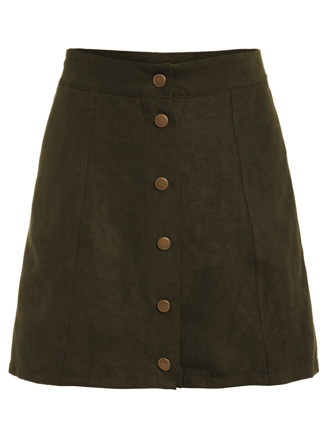Single Breasted Front A Line Skirt все цены