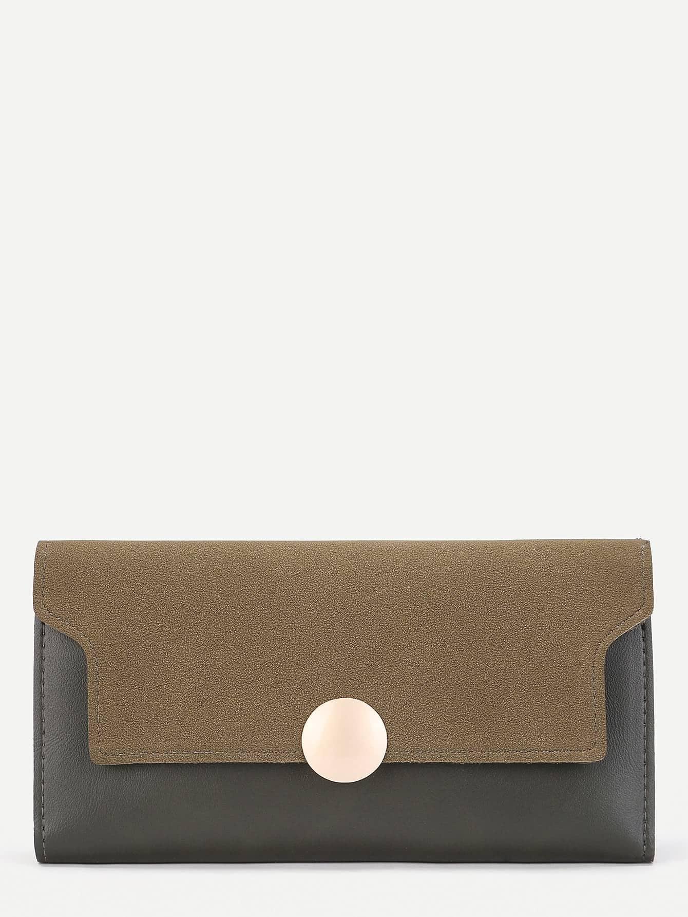 Round Button Design PU Wallet iridescent pu wallet