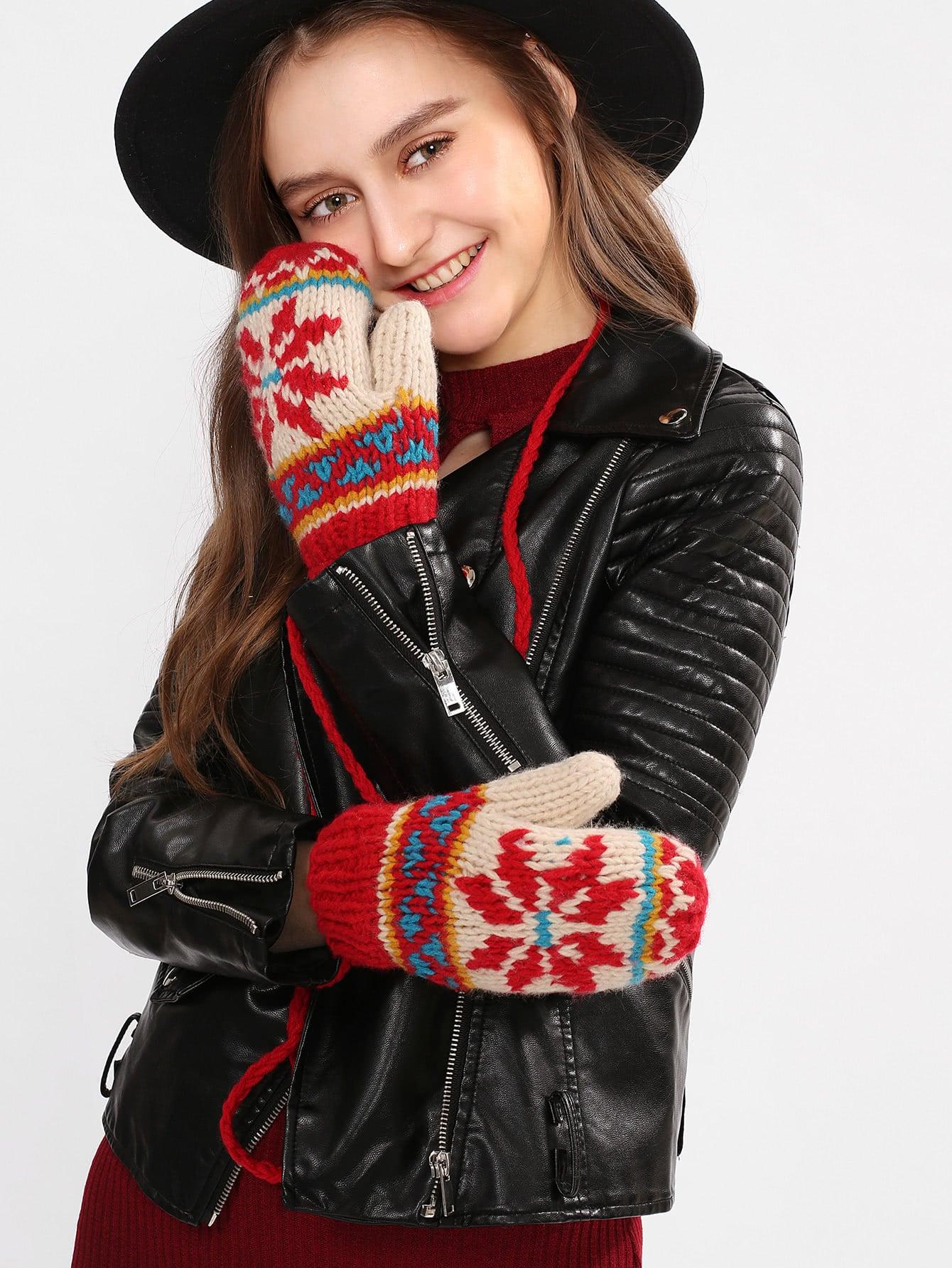 Трикотажные недоуздок-образным вырезом перчатки