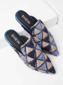 Zapatillas de punta con patrón triángulo