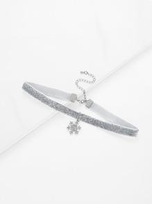 Collier détail de flocon de neige de Noël