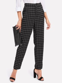 Grid Carrot Pants