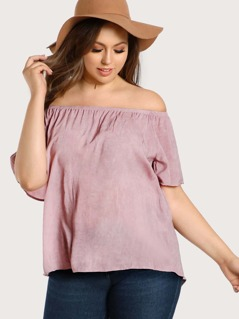 Off Shoulder High Low Top