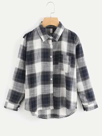 Chest Pocket Plaid Shirt