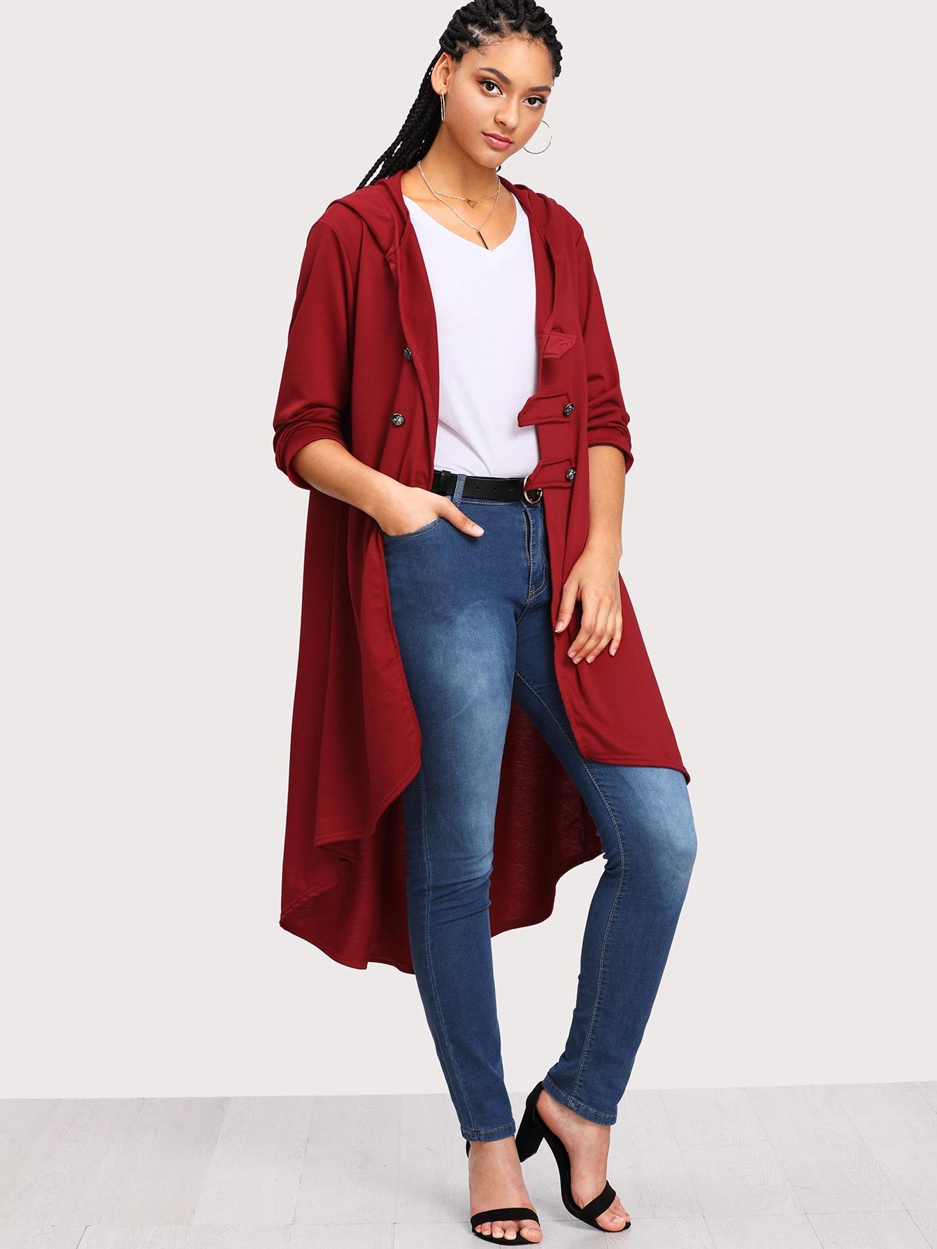 Dip Hem Hooded Coat куртки mavi куртка hooded coat