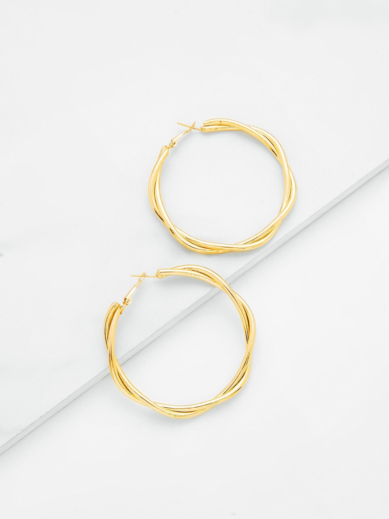 Layered Wrap Hoop Earrings layered wrap hoop earrings
