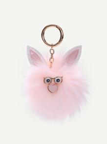 Pom Pom Bag Accessories With Ear