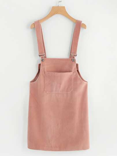 Pocket Front Pinafore Dress